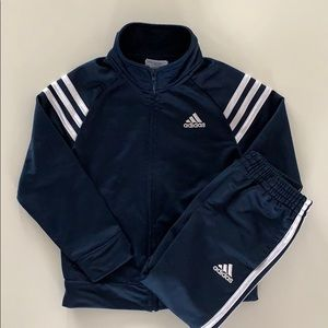 ADIDAS toddler boy track suit - navy blue size 3T